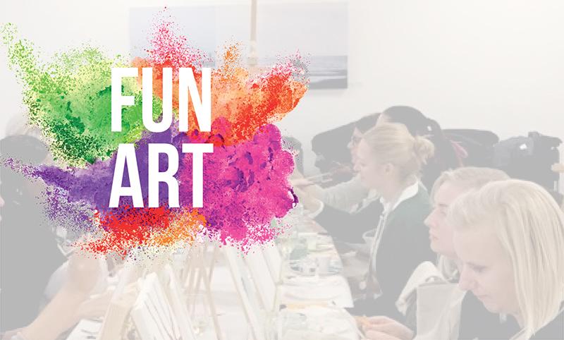 Måla och Skåla presenterar FUN ART!  - Roligt after-work-event - Anmäl dig nu