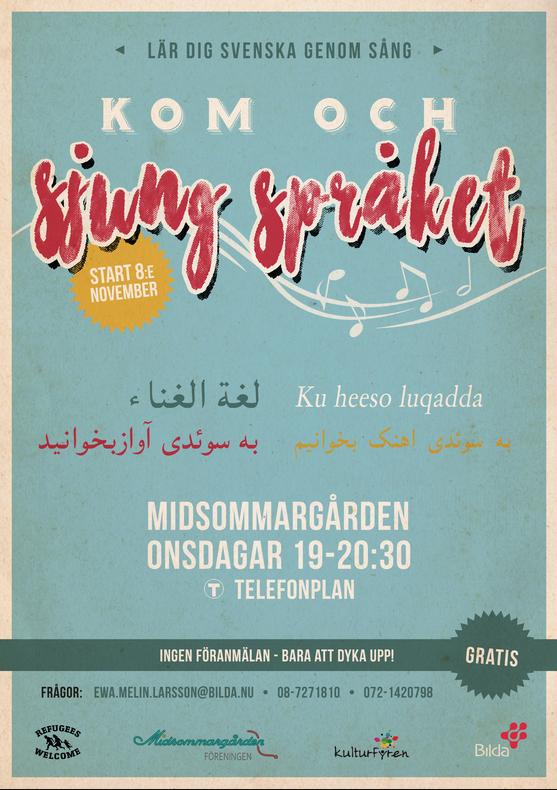 Kom och sjung språket med oss på Midsommargården