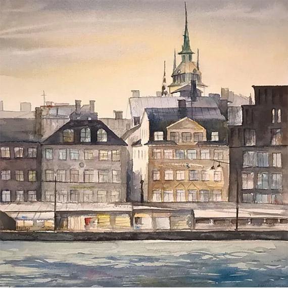 Akvarellkurs - Beatrice Jansson