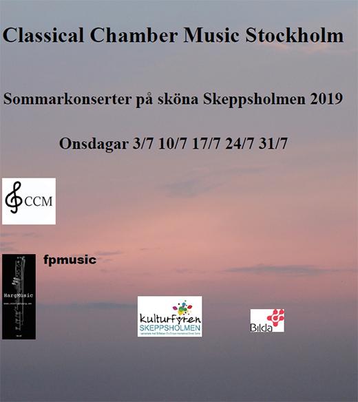 Classical Chamber Music Stockholm - Konsert onsdagar i Juli