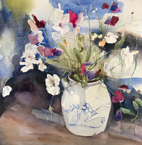 Fru Jansons konst helgkurser i akvarellmålning