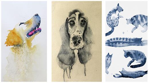 Akvarellkurs med Daniel Luther - Gestalta djur