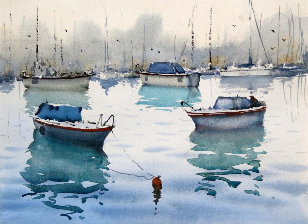Akvarellkurs med Daniel Luther - Sommarkurs - Vatten och Landskap - INSTÄLLD