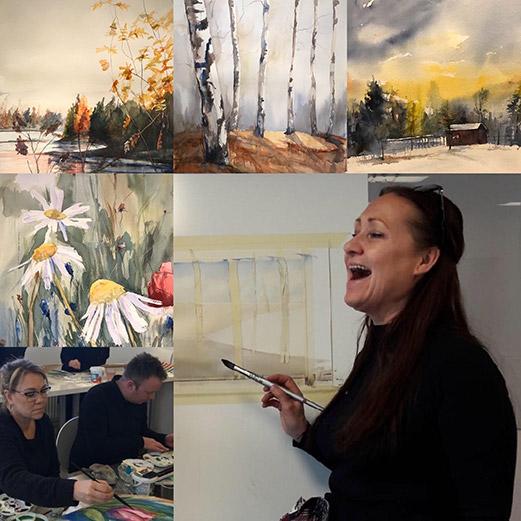 EXTRAINSATT för nybörjare - Fru Jansons konst helgkurser i akvarellmålning