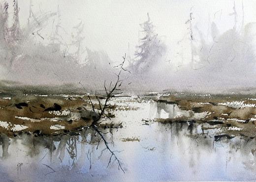 Akvarellkurs med Daniel Luther - Vatten och Landskap